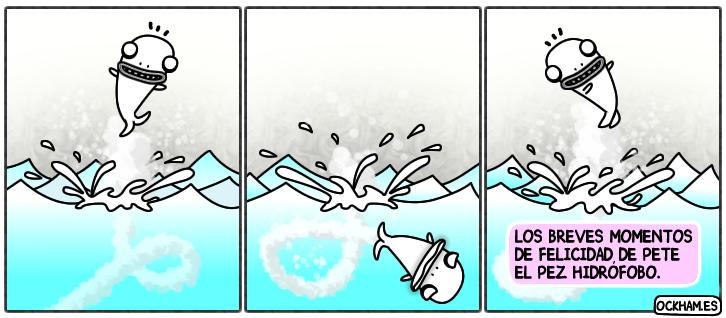 La felicidad efímera de Pete el pez hidrófobo